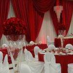 Wedding Decorations Red Silver Siudy
