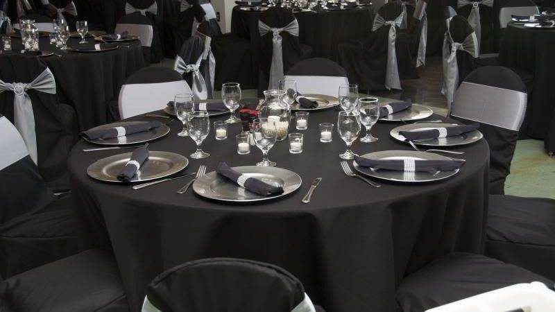 Wedding Items Sale Tablecloths Silver Chargers