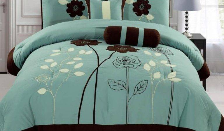 Welcome Comfort Teal Gray Bedding Decohoms