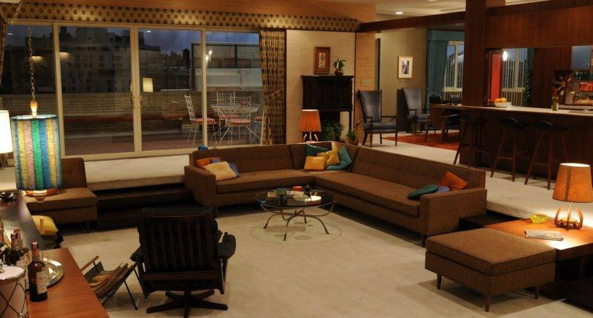 Well Appointed Catwalk Sunken Living Rooms Mad Men