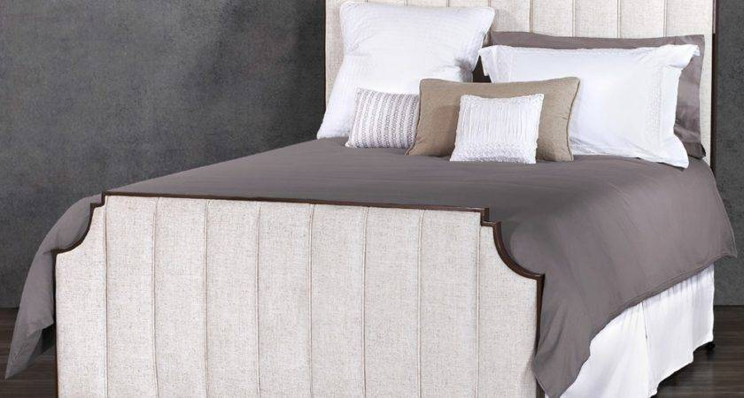 Wesley Allen Spencer Iron Upholstered Bed Humble