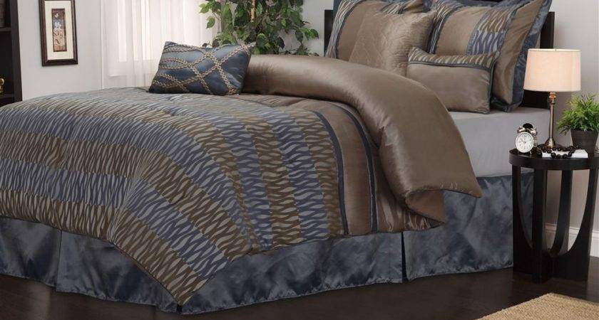 Westerly Piece Grey Brown Comforter Bedding Set