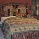 Western Country Bedding Set Plaid Deer Bear Twin Queen