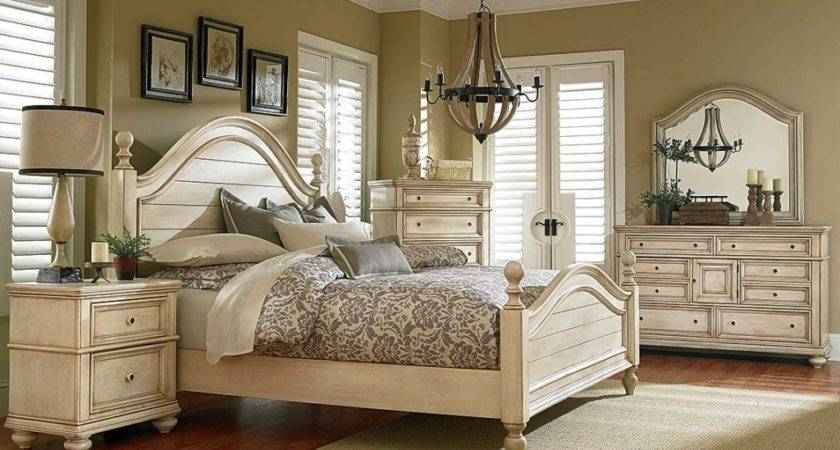White Antique French Bisque Finish Suite Chateau Bedroom