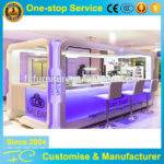 White Bcolorful Wood Nail Bar Work Station Furniture