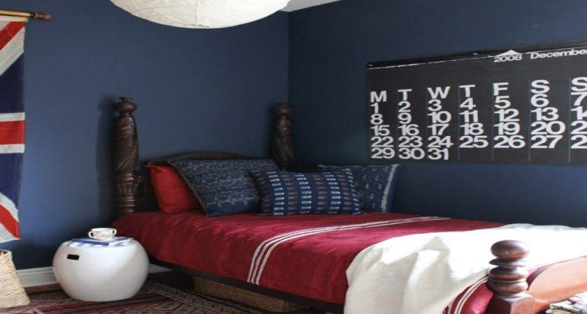 White Bedroom Walls Red Blue