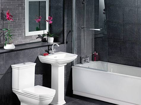 White Black Bathroom Decorating Ideas