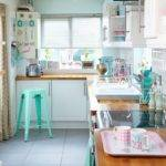 White Country Kitchen Green Walls Decorating