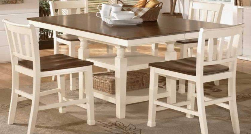 White Dining Table Set Cottage Style Room