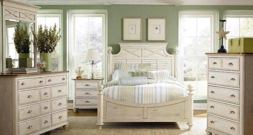 White Distressed Bedroom Furniture Walpaper