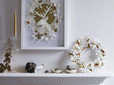 White Gold Christmas Decorations Modern
