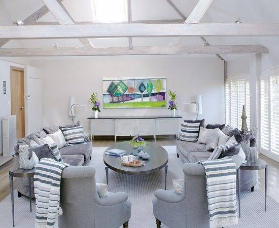 White Grey Living Room Housetohome