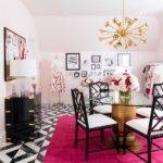White Hot Pink Office Side Desks