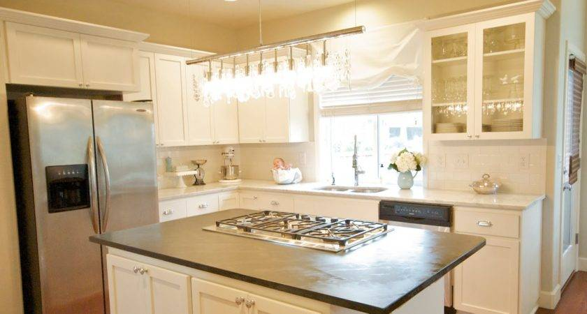 White Kitchen Cabinets Small Decor