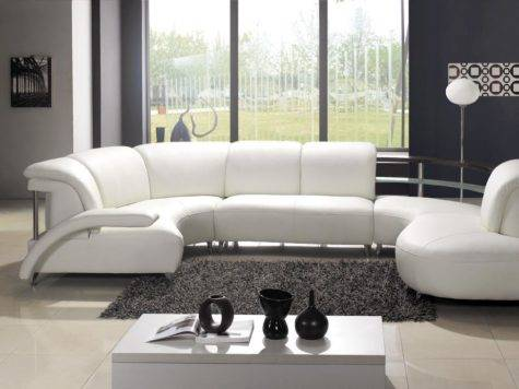 White Leather Sofa Beautiful Design Ideas Living Room