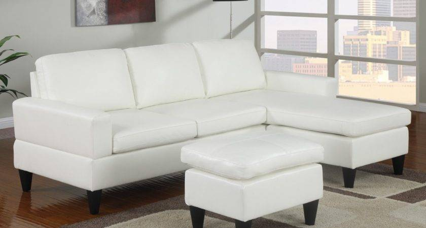 White Leather Sofa Good Furniture Your Living Room