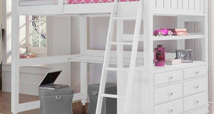 White Loft Bed Desk Fitsneaker