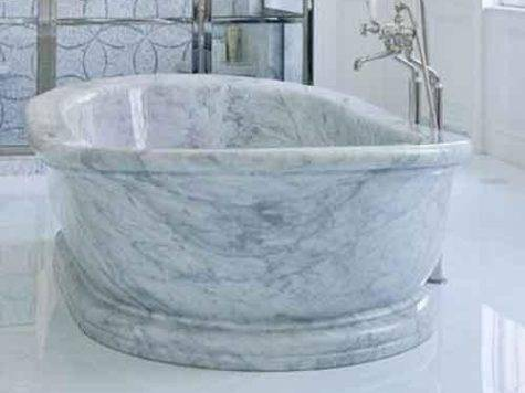 White Marble Bathtub Certificate China