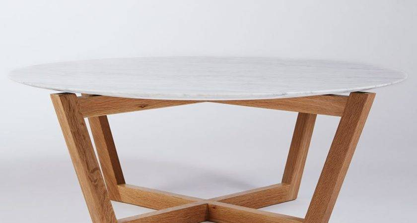White Marble Coffee Table Simple