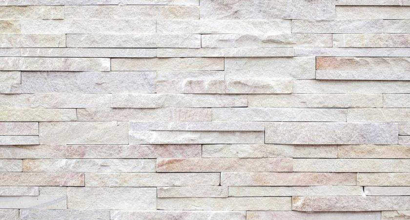 White Modern Stone Brick Wall Surfaced Texture