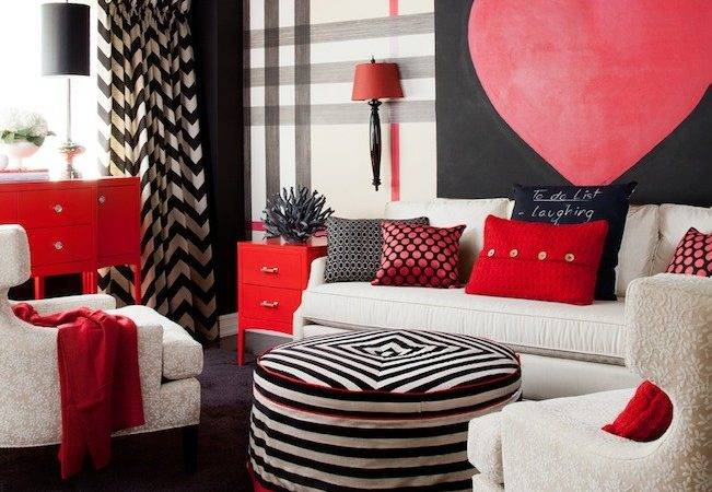 White Red Chevron Rug Design Ideas