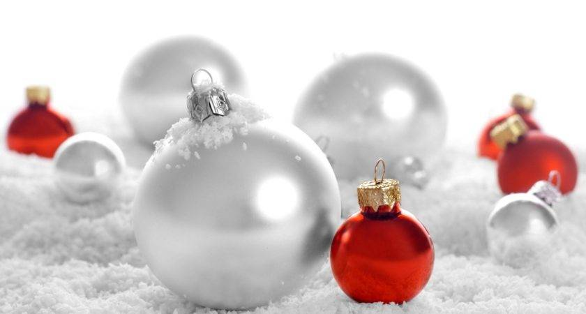 White Red Christmas Ornaments