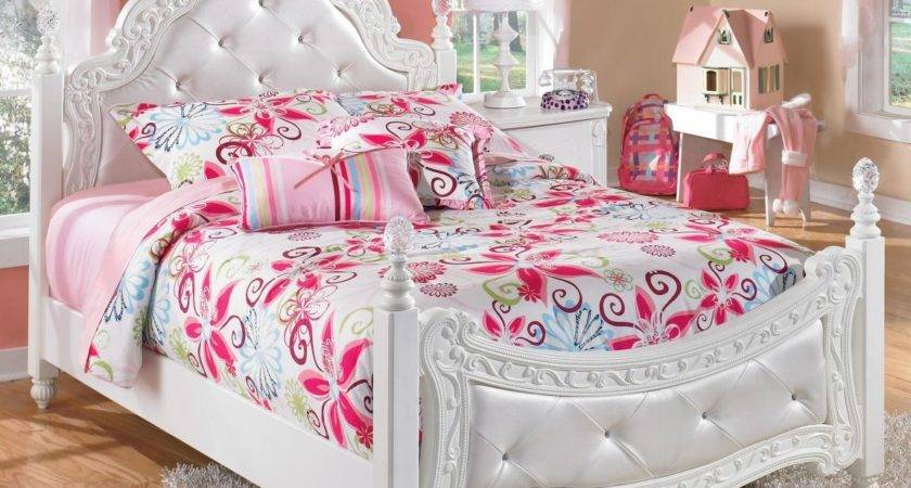 White Royal Girls Bedroom Furniture Pink Ascents