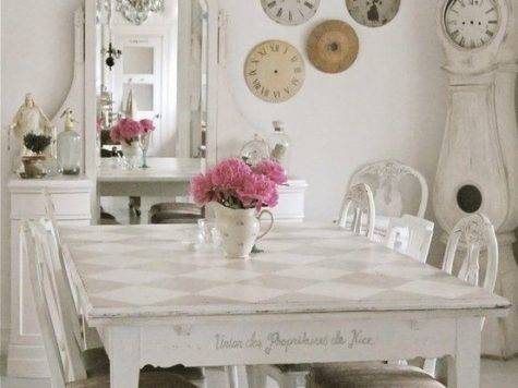 White Shabby Chic Dining Room Photos