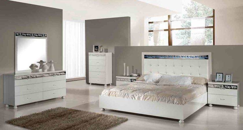 White Silver Bedroom Furniture Raya