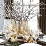 White Silver Christmas Table Decorations Temasistemi