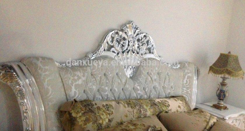 White Silver French Bedroom Set Antique Luxury Super