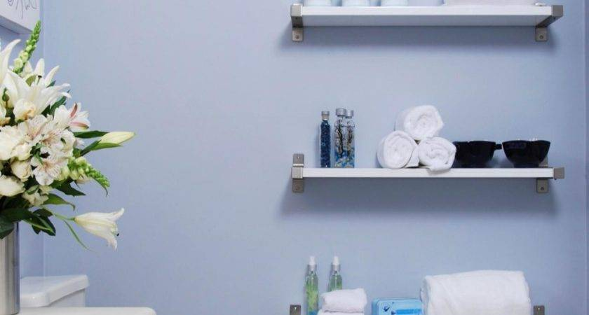 White Thin Mount Floating Shelves Set Grey Wall Design