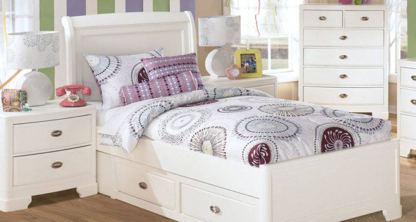 White Twin Trundle Bedroom Set Tag New
