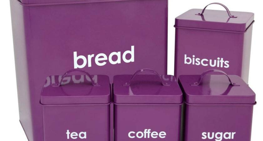 Wilko Kitchen Storage Set Purple Piece
