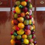 Williamsburg Fruit Topiary Christmas Tree Centerpiece
