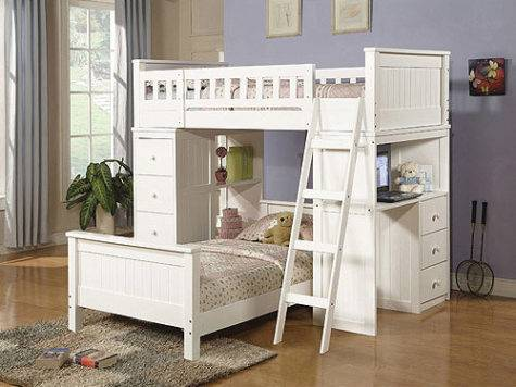 Willoughby Loft Bed Twin Desk Storage