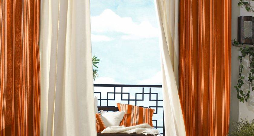 Window Curtains Orange Walls Curtain Menzilperde