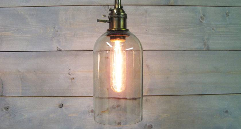 Wine Bottle Pendant Light Extra Large Clear Glass