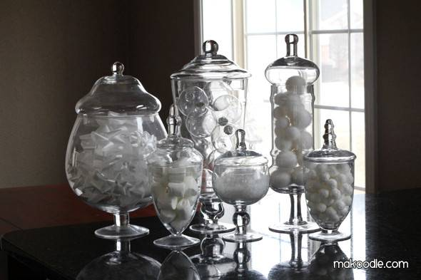 Winter Apothecary Jars Makoodle