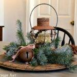 Wintery Rustic Christmas Centerpiece