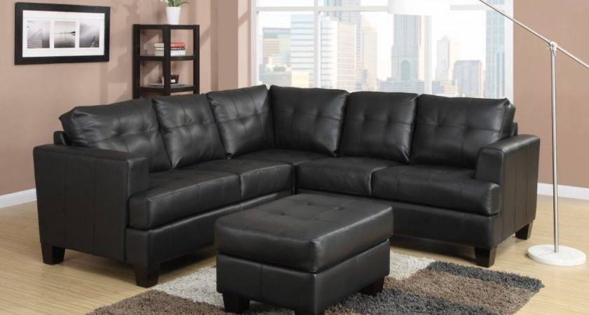 Wonderful Black Leather Sectional Sofa Unique