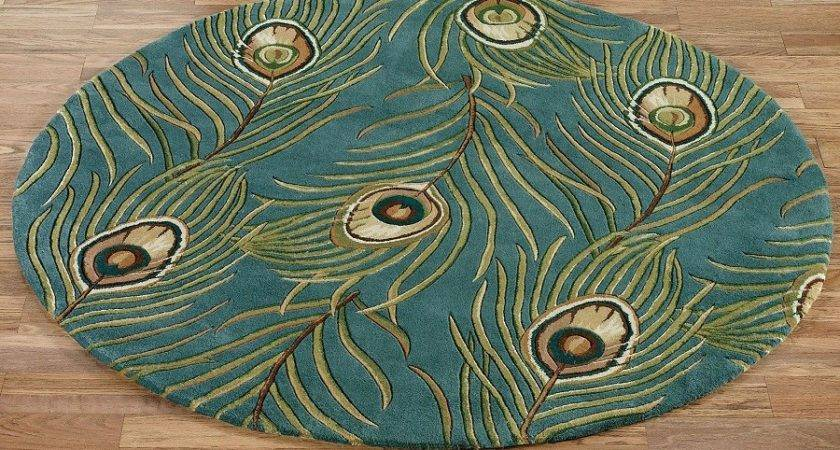 Wonderful Peacock Rug Color Home Decorations