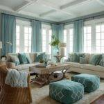 Wonderful Turquoise Coastal Living Room Design Ideas