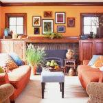 Wonderful Yellow Orange Living Room Upon Home Enhancing
