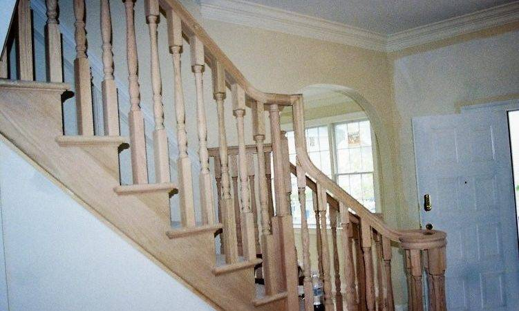 Wood Balusters Stair Rail Design