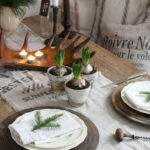 Wood Christmas Table Setting Ideas
