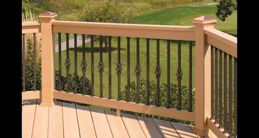Wood Deck Designs Railing Youtube