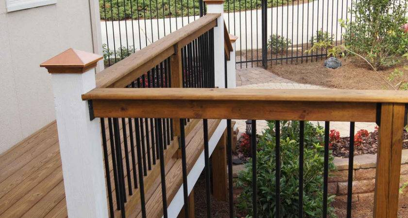 Wood Deck Railing Design Ideas Wooden Home