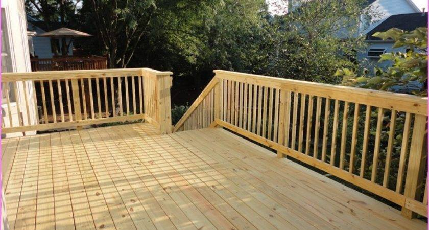 Wood Deck Railing Plan Jbeedesigns Outdoor