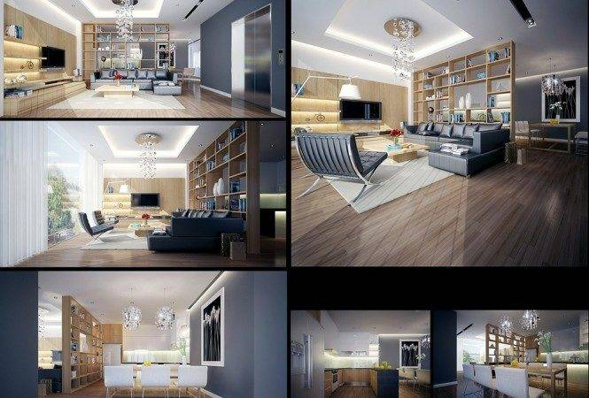 Wood Grey Lounge Dream Home Interiors Open